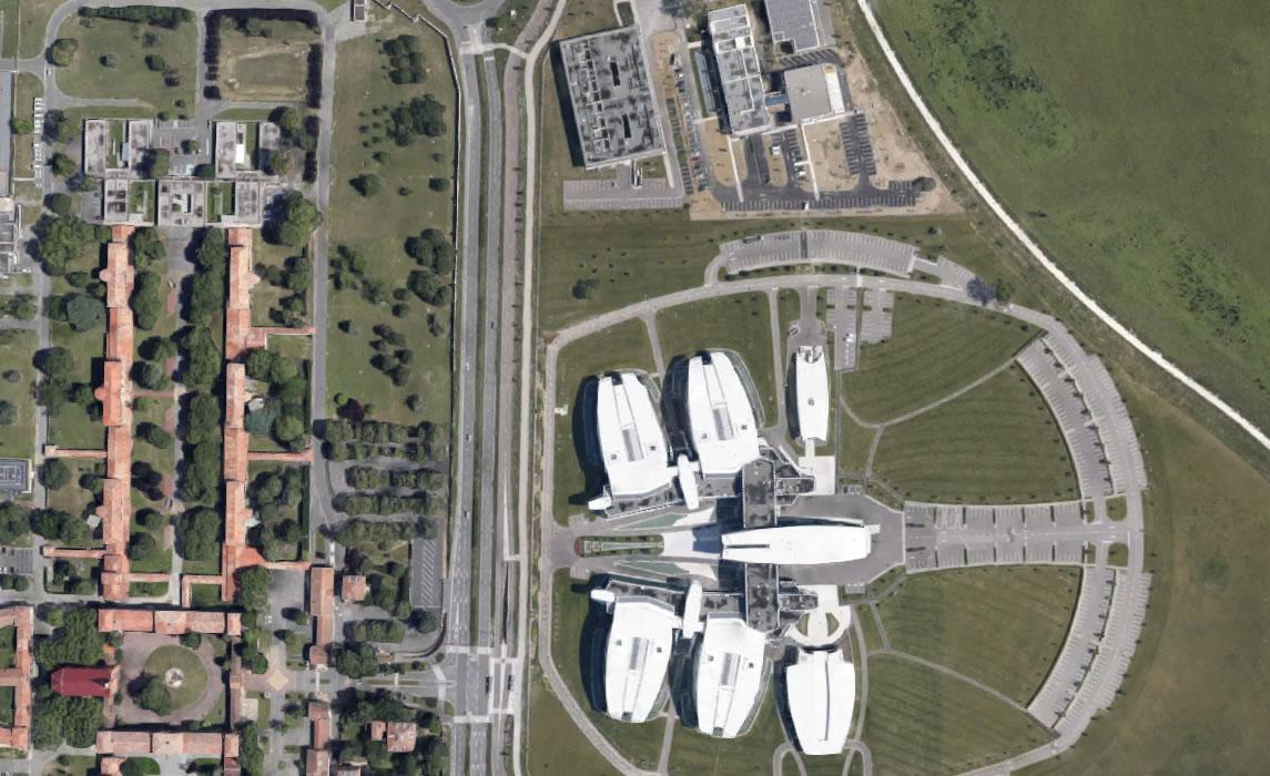Vue aérienne Centre Pierre Potier et l'Oncopole